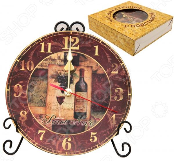 Часы настенные Elan Gallery «Натюрморт с вином»Часы настенные<br>Часы настенные Elan Gallery Натюрморт с вином - популярный элемент в оформлении интерьера. Представить свою жизнь без часов - невозможно, особенно в современном мире, где на счету каждая минута, поэтому настенные часы станут не только красивым но и полезным украшением. Настенные часы помогут подчеркнуть индивидуальность вашего интерьера, а так же подскажут точное время.<br>