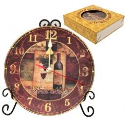Купить Часы настенные Elan Gallery «Натюрморт с вином»