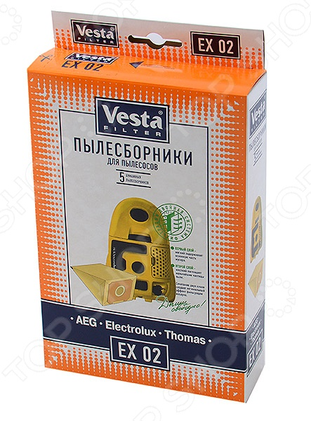 Мешки для пыли Vesta EX 02 Electrolux система автопуска baumaster at 8560x