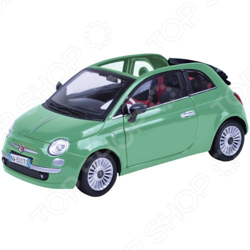 Модель автомобиля 1:18 Motormax Fiat Nuova 500 Cabrio. В ассортименте