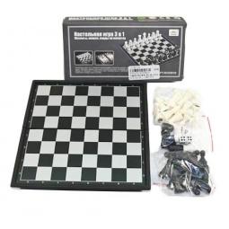 фото Игра настольная 3 в 1: шашки, шахматы, нарды Shantou Gepai магнитные 625136