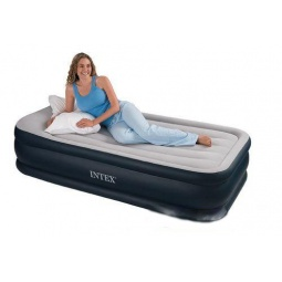 фото Матрас-кровать надувной Intex с электрическим насосом «Райзинг комфорт»