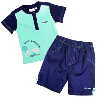 Купить Комплект: футболка и шорты WWW Safari. Цвет: зеленый
