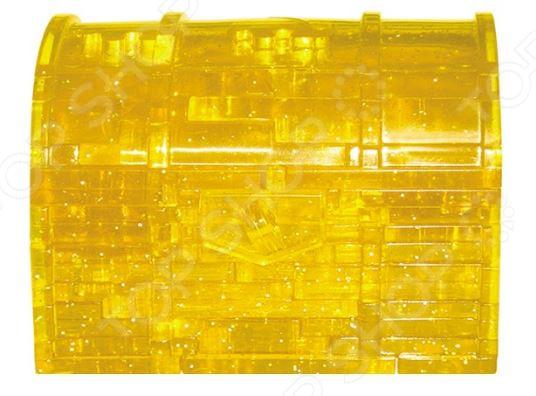 Кристальный пазл 3D Educational Line с подсветкой «Сундук»Пазлы 3D<br>Кристальный пазл 3D Educational Line с подсветкой Сундук занимательная игра и великолепная зарядка для вашего ума и смекалки! Собирая её, вы не только научитесь пространственному и конструкторскому мышлению, но и сможете натренировать логику, внимательность, усидчивость и мелкую моторику рук. Для сбора объемного пазла вам не потребуются специальные инструменты и принадлежности, а лишь капелька смекалки и немного терпения. Чтобы сборка кристального пазла не была утомительным занятием, воспользуйтесь четкой и понятной инструкцией в картинках. Она поможет быстро и правильно собрать фигурку. Кристальный пазл обладает рядом достоинств:  все детали выполнены из качественного пластика;  детали легко соединяются между собой и не распадаются;  при необходимости пазл можно разобрать, поэтому фигурка походит для многократного использования;  светодиодный элемент позволяет фигурке мягко светится в темноте. Необычный и захватывающий объемный пазл послужит идеальным занятием в свободное время. Оно увлечет не только детей, но и взрослых. Если хотите проверить свои конструкторские способности эта головоломка именно то, что вам нужно! Готовую фигурку в форме сундука можно использовать в качестве оригинального сувенира или миниатюрного светильника.<br>
