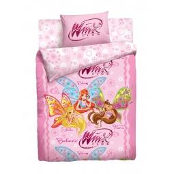 фото Комплект постельного белья Winx «Волшебницы». 1,5-спальный. Размер наволочки: 50х70 см