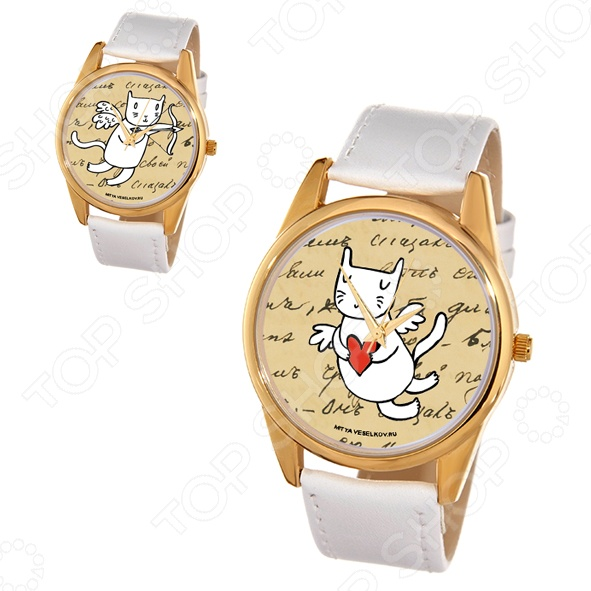 Часы наручные Mitya Veselkov «Кот-амур. Сердце»