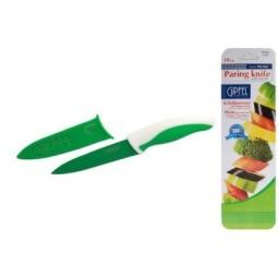 фото Нож Gipfel в пластиковом чехле. Цвет рукояти: зеленый