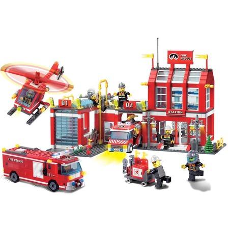 Купить Конструктор игровой Brick «Пожарная станция» 911