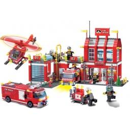 фото Конструктор игровой Brick «Пожарная станция» 911