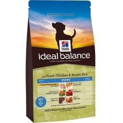 фото Корм сухой для щенков Hill's Ideal Balance Puppy со свежей курицей и коричневым рисом