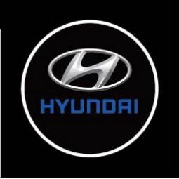фото Светодиодные проекторы Courtesy door ligh логотипа автомобиля Hyundai
