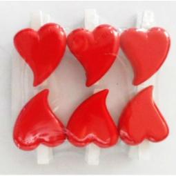 фото Набор прищепок декоративных Феникс-Презент «Влюбленные сердечки»