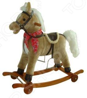 Лошадка-качалка Shantou Gepai на колесах 61053
