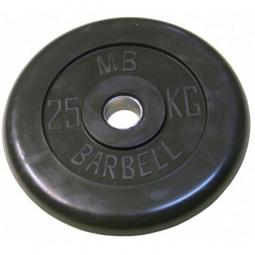 фото Диск MB Barbell для штанги. Диаметр отверстия диска: 50 мм. Вес в кг: 25 кг