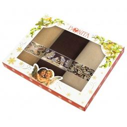 фото Комплект из 3-х полотенец подарочный BONITA «Драгоценности»