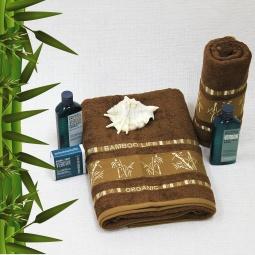 фото Полотенце махровое Mariposa Tropics d.brown. Размер полотенца: 70х140 см