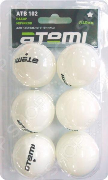 Мячи для настольного тенниса Atemi ATB102 мячи для настольного тенниса double fish 2 star