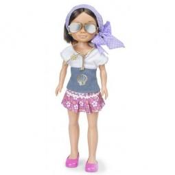 фото Кукла Famosa Нэнси «Брюнетка в фиолетовом платке»