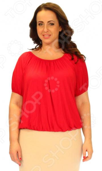 Блуза Матекс «Ягодка». Цвет: красныйБлуза Ягодка это легкая и нежная блуза, которая поможет вам создавать невероятные образы, всегда оставаясь женственной и утонченной. Благодаря отличному дизайну она скроет недостатки фигуры и подчеркнет достоинства. Блуза прекрасно смотрится с брюками и юбками, а насыщенный цвет привлекает взгляд. В этой блузке вы будете чувствовать себя блистательно как на работе, так и на вечерней прогулке по городу. Можно отметить следующие характеристики блузы:  Круглый вырез горловины подчеркивает область декольте и шею;  Рукава-фонарики скрывают недостатки плеч;  Блуза свободного силуэта;  Оригинальная цветовая гамма позволяет создать изысканный образ и отвлечь внимание от недостатков фигуры. Блуза изготовлена из легкого материала 95 вискоза, 5 полиэстер , благодаря чему материал не скатывается и не линяет после стирки. Вискоза очень быстро высыхает после стирки и не мнется. Даже после длительных стирок и использования эта блуза будет выглядеть идеально. Материал является антистатическим и обладает хорошей воздухопроницаемостью.<br>