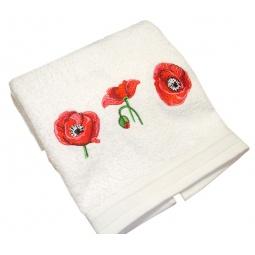 фото Полотенце подарочное с вышивкой TAC Maki. Цвет: белый