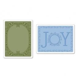 фото Набор форм для эмбоссирования Sizzix Textured Impressions Праздничное веселье