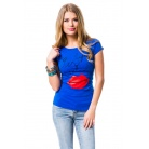 Фото Футболка Mondigo 8440. Цвет: синий. Размер одежды: 44