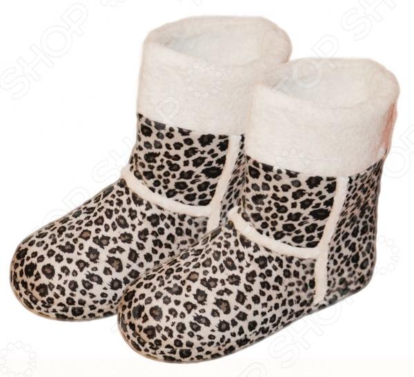 Тапочки-сапожки «Леопард»