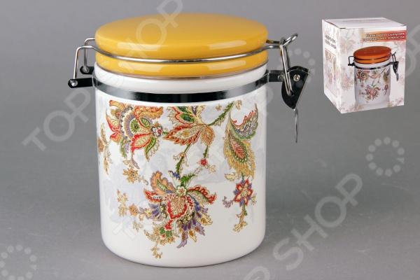фото Банка для хранения сыпучих продуктов Коралл HC8600C-F60 «Марокканский цветок», Хранение продуктов