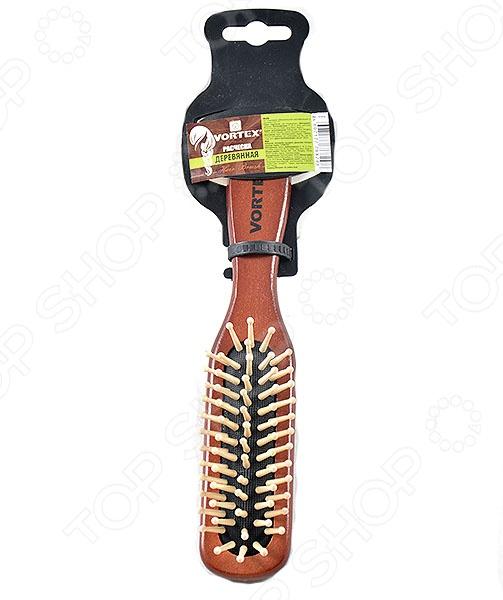 Расческа массажная деревянная VORTEX 51018 (Vortex)