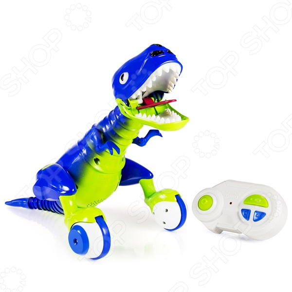 Игрушка интерактивная Zoomer «Динозавр»Другие интерактивные игрушки и игры<br>Игрушка интерактивная Zoomer Динозавр - оригинальная игрушка, которая обязательно понравится малышу, увлеченному удивительными существами - динозаврами. Игрушка отличается удивительной детализацией и реалистичностью. Прорисованная шкурка, острые шипы, костные наросты и огромные когти - все как у самого настоящего динозавра. У него также есть собственный характер, который нужно воспитывать и формировать различными командами. Так, если перевести динозавра в автономный режим, то он начнет самостоятельно изучать окружающий мир. Он может выражать довольство или агрессию. Особенности интерактивной игрушки Zoomer Динозавр :  голова, хвост, ноги, шея и хвост подвижны;  чтобы разозлить его достаточно потянуть за хвост или шею ;  может злиться, грустить или радоваться;  может издавать различные звуки;  заряжается при помощи USB-кабеля. Подарите вашему ребенку несколько часов увлекательной и занимательной игры с игрушкой интерактивной Zoomer Динозавр !<br>