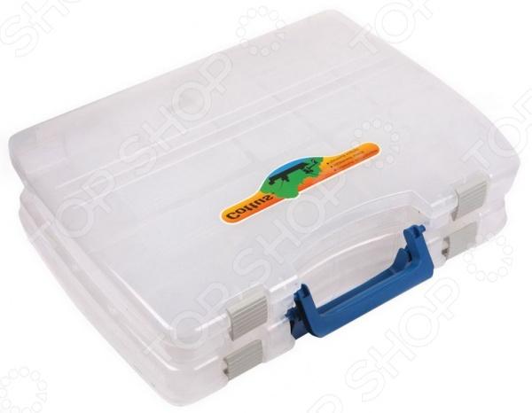 Коробка для рыболовных принадлежностей Cottus X 2 станет вашим постоянным помощником, как при летней, так и во время зимней рыбалки. Ее внутреннее пространство обладает приличной вместимостью и может использоваться для того, чтобы размещать внутри всевозможные предметы, оснастку, крючки, приманки, мелкие инструменты и прочие мелочи, без которых трудно обойтись при ловле рыбы. Очень простая, но в то же время надежная защелка обеспечивает уверенность в том, что крышка не откинется и содержимое коробки не потеряется. Удобная ручка обеспечивает простоту использования коробки при хранения и переноски. Сделайте свою рыбалку намного проще, вместе с коробкой для рыболовецких принадлежностей Cottus X 2.