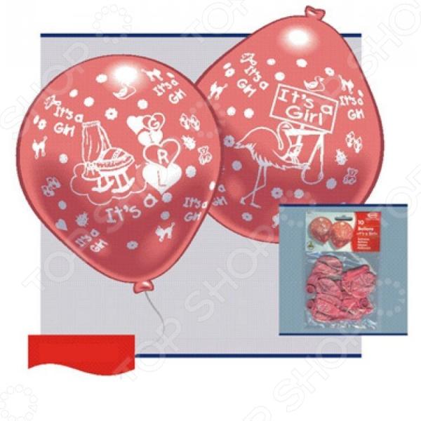 Набор надувных шариков Everts «Рождение малыша-девочки»