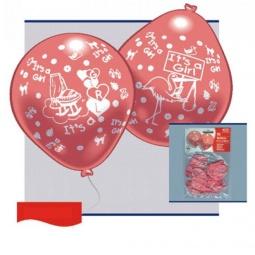 Купить Набор надувных шариков Everts «Рождение малыша-девочки»