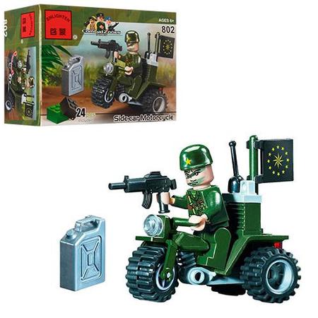 Купить Конструктор игровой Brick «Мотоцикл» 802