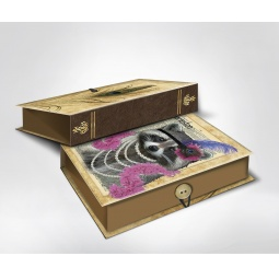 фото Шкатулка-коробка подарочная Феникс-Презент «Енот». Размер: M (20х14 см). Высота: 6 см