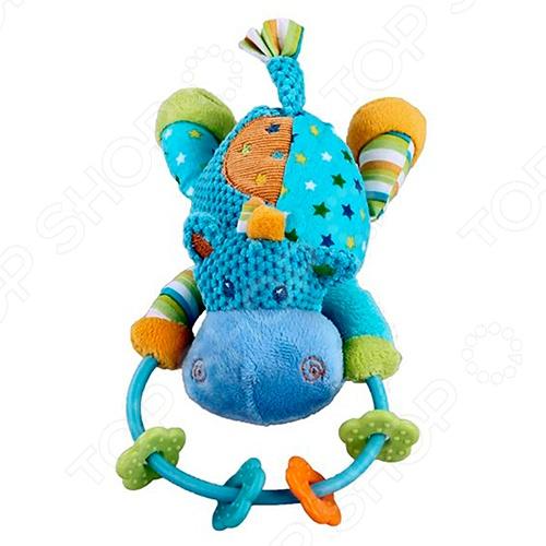 фото Игрушка-погремушка мягкая Жирафики «Бегемотик», Погремушки. Подвески