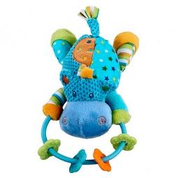 Купить Игрушка-погремушка мягкая Жирафики «Бегемотик»