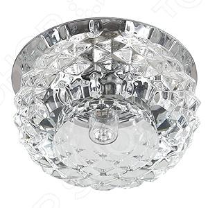 Светильник декоративный потолочный Эра DK 56 CH/WHСпоты встраиваемые<br>Светильник декоративный потолочный Эра DK 56 CH WH это изящный и стильный светильник, который способен ярко освещать целую комнату. Модель предназначена для людей, желающих создать дома атмосферу уюта и тепла, а быт сделать более комфортным. Потолочный светильник идеально подходит для помещений с низким потолком, поскольку занимает совсем немного места. Вы можете использовать его как единственный источник света или сочетать с выполненными в той же стилистике декоративными светильниками, создав в комнате необходимую атмосферу. Выполненный из хрусталя и хромированного металла светильник Эра DK 56 CH WH, можно разместить в гостиной, зале или спальной комнате. Также подойдет в качестве источника света в местах общественного питания. Современный стиль и универсальная цветовая гамма изделия придадут любому помещению еще большей гармонии, эмоциональной наполненности и добавят нотку романтичности. Общая мощность светильника составляет 40 Вт и этого достаточно, чтобы осветить до 2 кв.м пространства. Рекомендуется использовать 1 галогенную лампу мощностью 40 Вт цоколь G9 . Степень защиты электротехнического оборудования: IP20.<br>