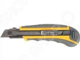 Нож строительный с запасными лезвиями Stayer Profi 09165Строительные ножи<br>Нож строительный Stayer Profi 09165 с восемью запасными сегментными лезвиями это удобный нож с выдвигающимся лезвием, который обязательно пригодится вам при ремонте. Крепление лезвия к рукояти надежно зафиксировано, так что поломки инструмента исключены, кроме того, это защит от порезов в процессе работы.<br>