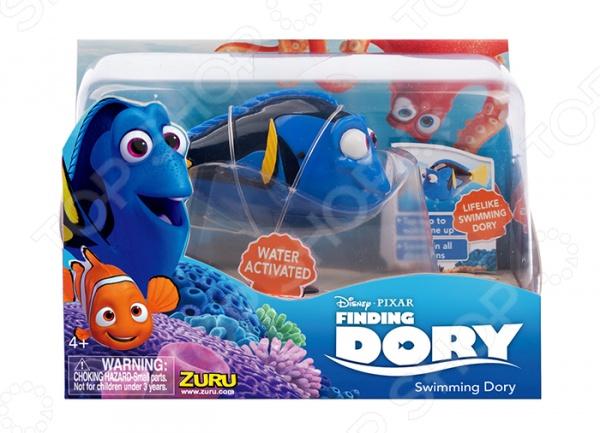 Игрушка интерактивная Zuru RoboFish «Дори»Другие интерактивные игрушки и игры<br>Игрушка интерактивная Zuru RoboFish Дори станет прекрасным развлечением для детей в ванной. Инновационная игрушка легко активируется в воде. Она может выполнять несколько функций: поворачивать направо, налево, плыть вниз, вверх или прямо, имитируя настоящие движения рыбки. У этой морской красавицы мягкий подвижный силиконовый хвостик, поэтому движения кажутся такими реалистичными. Главной особенностью этой рыбки является её уникальный дизайн, созданный по мотивам мультфильма В поисках Дори и полностью повторяющий одного из главных персонажей рыбку Дори. В игрушку также встроен режим экономии батареи, благодаря которому рыбка отключается через 4 минуты. Чтобы игрушка прослужила как можно дольше, рекомендуется вынимать рыбку из воды, после окончания игры.<br>