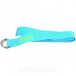 фото Ремень для йоги эластичный Reebok. Цвет: голубой