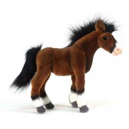 фото Мягкая игрушка для ребенка Hansa «Жеребенок клейдесдальской породы»