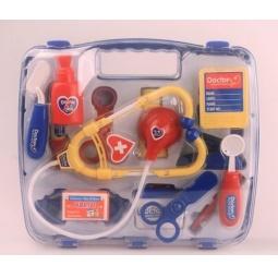 фото Игровой набор для ребенка Shantou Gepai «Набор доктора в чемодане». Цвет: красный, желтый