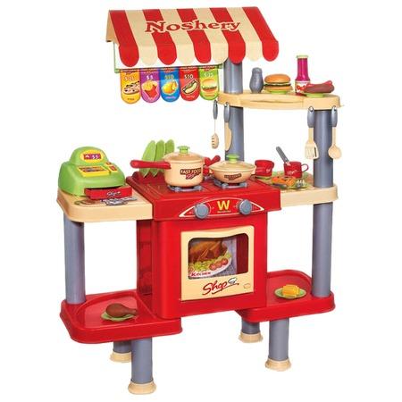 Купить Игровой набор для девочки Shantou Gepai «Кафе с кассой, продуктами и посудой» 383-009
