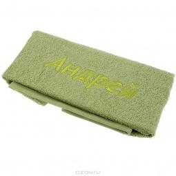 фото Полотенце подарочное с вышивкой TAC Андрей. Цвет: зеленый
