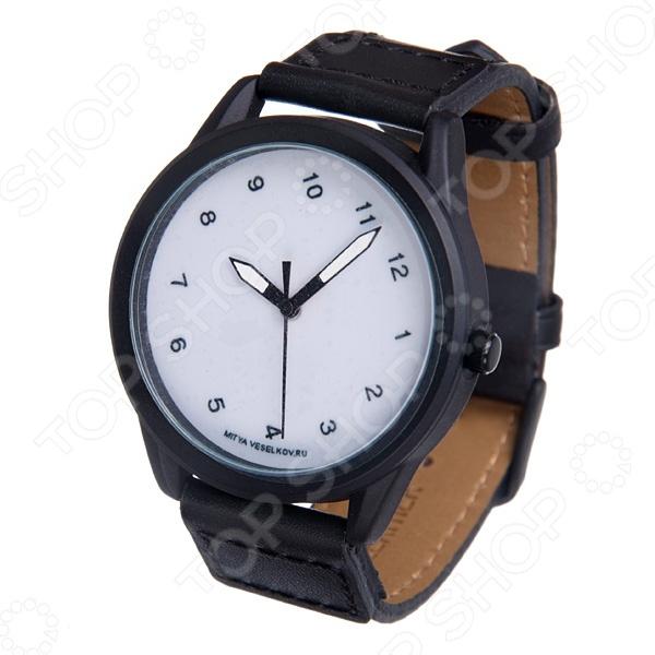 Часы наручные Mitya Veselkov «Наклонный циферблат» MVBlack