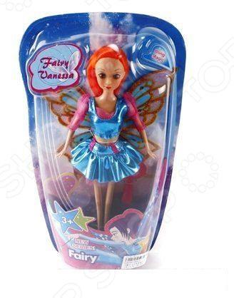 Кукла Shantou Gepai «Фея»Куклы<br>Кукла Shantou Gepai Фея - станет замечательным подарком для любой девочки. Кукла одета в очаровательное платьице, а её волосы уложены в красивую прическу. Крылья феи позволят разнообразить игровой процесс и девочка сможет придумывать самые разнообразные волшебные сюжеты для игр. Кукла отлично подходит для сюжетно-роллевых игр, в процессе которых у ребенка развивается мышление, внимание, память и воображение. Набор выполнен из качественных и безопасных материалов.<br>