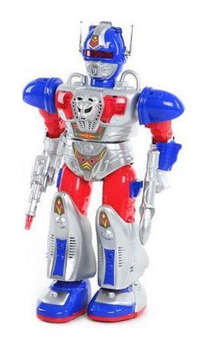 Робот интерактивный Shantou Gepai 9630Интерактивные роботы<br>Робот интерактивный Shantou Gepai оригинальная игрушка-робот защитник планеты. Робот имеет удивительные возможности поднимать и опускать руки, ходить, а также стрелять из оружия. Выстрелы сопровождаются звуковыми и световыми эффектами. Изготовлен робот из качественного пластика. Игрушка развивает внимание, воображение и координацию движений. С такой игрушкой можно будет спасать мир и справляться с врагами игрушечного мира.<br>