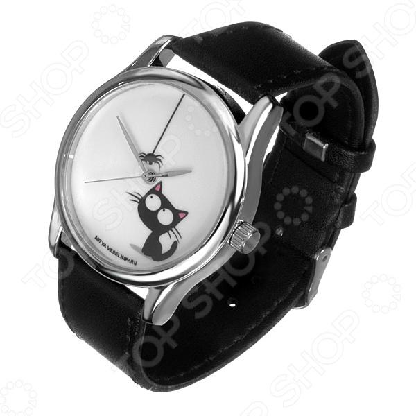 Часы наручные Mitya Veselkov «Кошка и паучок» MV mitya veselkov mitya veselkov mv shine 21