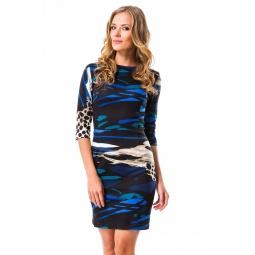фото Платье Mondigo 5081. Цвет: синий. Размер одежды: 48
